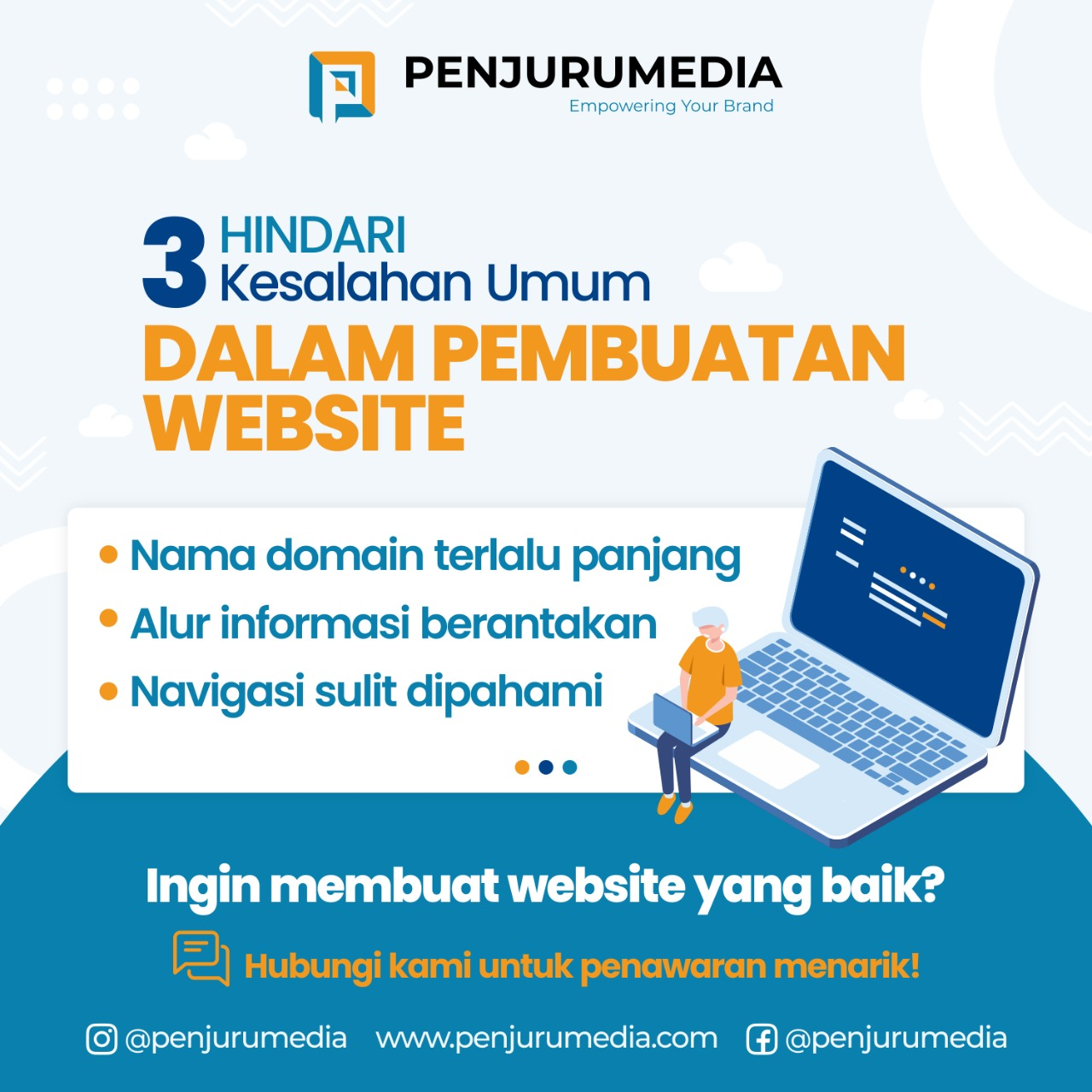 3 Kesalahan Umum Dalam Pembuatan Website